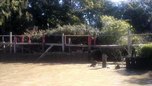El río Sarmiento.