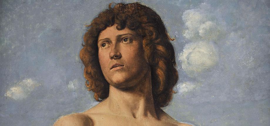 意大利画家Giovanni Battista Cima (1459-1517)的作品之一Saint Sébastien(1500-1502 )