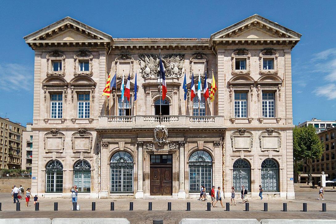 L'hôtel de ville de Marseille.