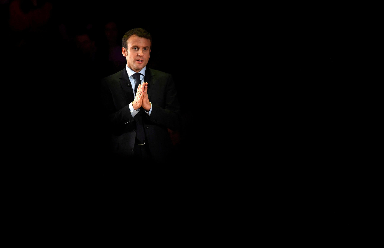 Emmanuel Macron em Londres, durante um encontro com expatriados franceses