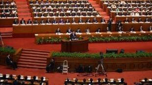 Gần 3000 đại biểu Quốc hội Trung Quốc lắng nghe diễn văn bế mạc khóa họp của chủ tịch nước Tập Cận Bình, ngày 17/03/2013