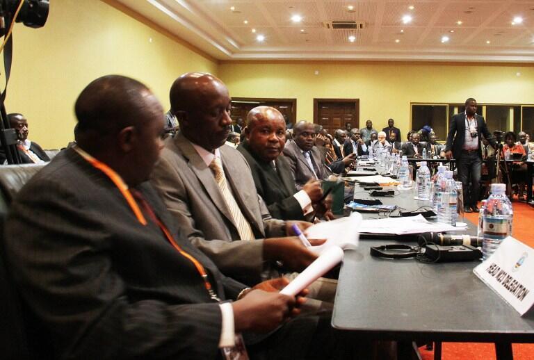 Ujumbe wa Wafuasi wa Kundi la Waasi la M23 ambao unahudhuria mkutano wa kusaka suluhu ya Mashariki mwa DRC na serikali unaofanyika nchini Uganda