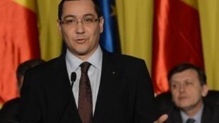 Le Premier ministre roumain Victor Ponta s'adresse au Parlement, à Bucarest, le 21 décembre 2012.