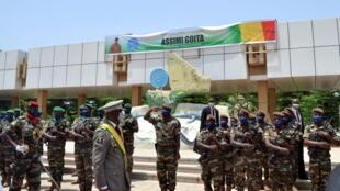 Le colonel Assimi Goita, lors de son investiture en tant que du président de la transition malienne, lundi 7 juin 2021, à Bamako.