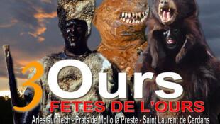 Affiche officielle des Fêtes de l'ours à Arles-sur-Tech, Prats de Mollo la Preste et Saint Laurent de Cerdans.
