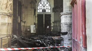 2020-07-18 france nantes cathedral fire