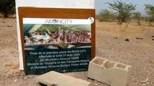 Sur le site de la ville futuriste Akon City, à Mbodiène, le 20 mai.