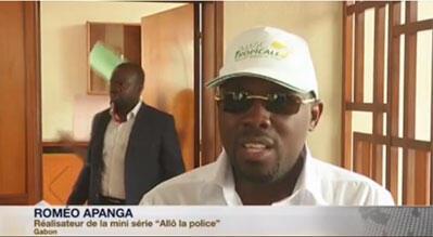 Romeo Apanga, réalisateur du feuilleton gabonais «Allo La Police» (Capture d'écran).