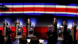 Um dos debates na televisão dos candidatos às eleições presidenciais deste domingo na Costa Rica