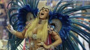 Desfile en el Sambódromo de Río de Janeiro, Brasil, el 20 de febrero de 2012.