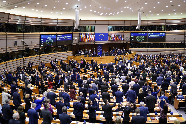 Phiên họp Nghị Viện Châu Âu thông qua thỏa thuận Brexit ngày 29/01/2020.