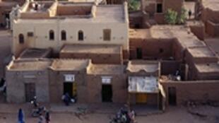 Vue d'Agadez, dans le nord du Niger.