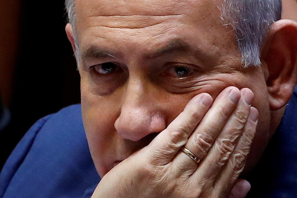 Under pressure: Israeli Prime Minister Benjamin Netanyahu.