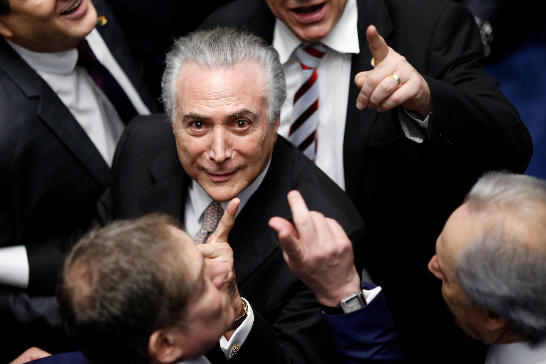 Le nouveau président du Brésil, Michel Temer, le 31 août à Brasilia lors de son investiture.