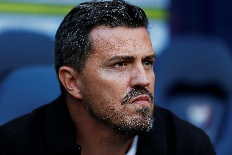 Óscar García, el técnico del Saint-Étienne, el pasado 12 de agosto de 2017 durante un partido ante Caen, en Caen, Francia.