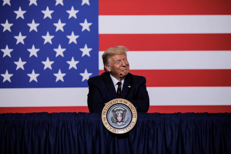 Derrière l'annonce d'un possible report de l'élection présidentielle américaine, une stratégie électorale bien réfléchie. Donald Trump à Washington, le 30 juillet 2020.
