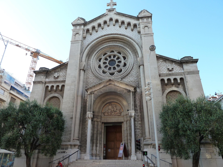 Церковь в центре Ницце, эвакуированная во время пасхальной службы 16 апреля