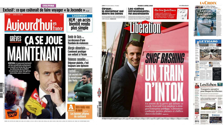 A imprensa francesa analisa a queda de braço entre o governo e a companhia ferroviária SNCF, em greve nesta terça-feira, contra a reforma prevista pelo governo.