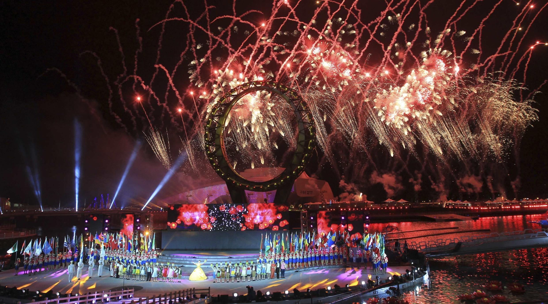 Cérémonie d'ouverture de l'Exposition internationale de Yeosu 2012, le 11 mai 2012.