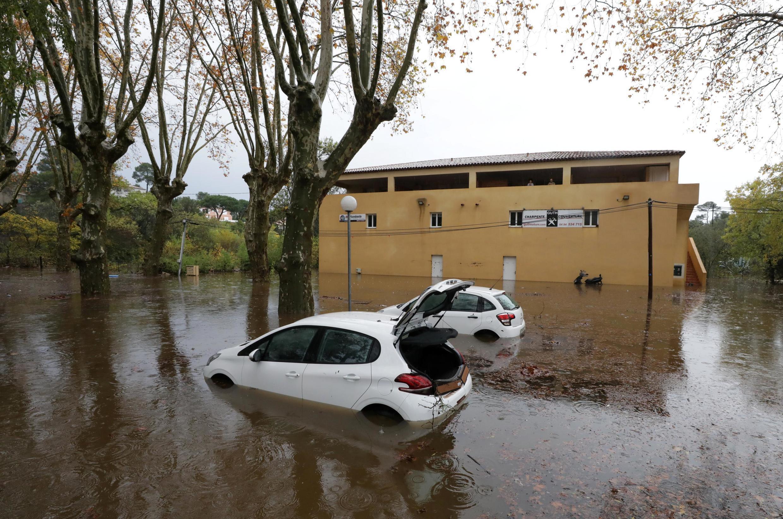 Рокбрюн-сюр-Аржан после рекордного подъема воды, 24 ноября 2019 г.