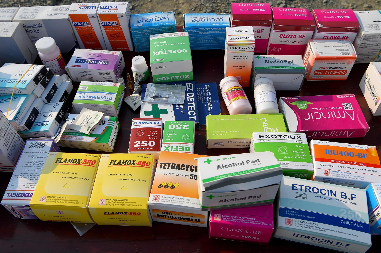 Une saisie de faux médicaments à Phnom Penh en mars 2019 (image d'illustration).