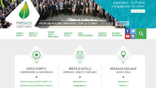 La page d'accueil du site COP 21.