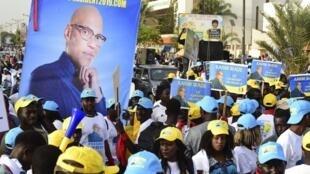 Des partisans de Karim Wade, à Dakar, le 29 novembre 2018.