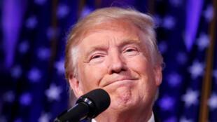 Donald Trump após anúncio da vitória.