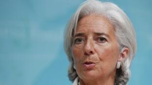 La directora general del FMI, Christine Lagarde.