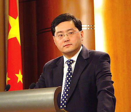 Phát ngôn viên bộ Ngoại giao Trung Quốc Tần Cương (Reuters)