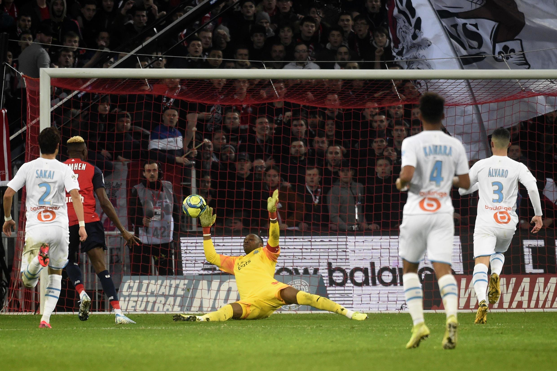 Marselha venceu o Lille e somou mais três pontos na luta pelo segundo lugar que dá acesso à Liga dos Campeões.