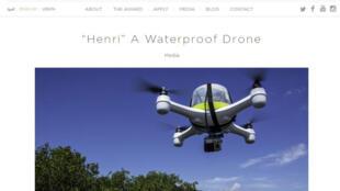 Capture d'écran du site internet du la Coupe du monde des «Drones pour le bien».