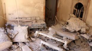 2016年10月3日,叙利亚城市阿勒颇东部反叛武装控制地区最大医院被炮火完全摧毁。
