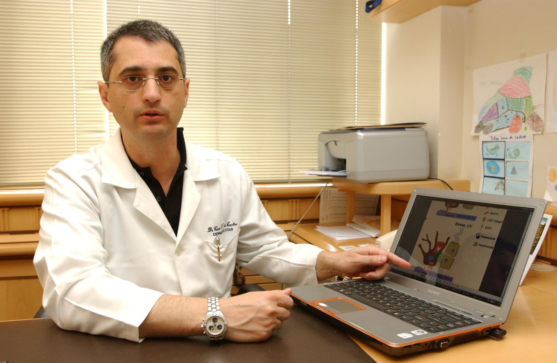 O médico Caio Castro, pesquisador e dermatologista da Santa Casa de Curitiba, é referência em estudos sobre vitiligo no Brasil..