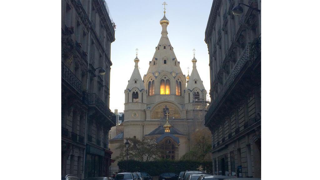La Cathédrale Saint Alexandre Nevsky, à Paris, l'un des centres de l'émigration russe.