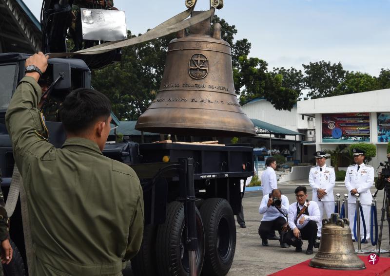 美國歸還上個世紀搶走的巴蘭吉加教堂鍾,12月11日運抵菲律賓馬尼拉的空軍基地。