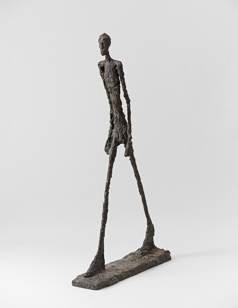"""""""مردی که راه میرود"""" اثر """"آلبرتو جاکومِتی"""" - ۱۹۶۱"""
