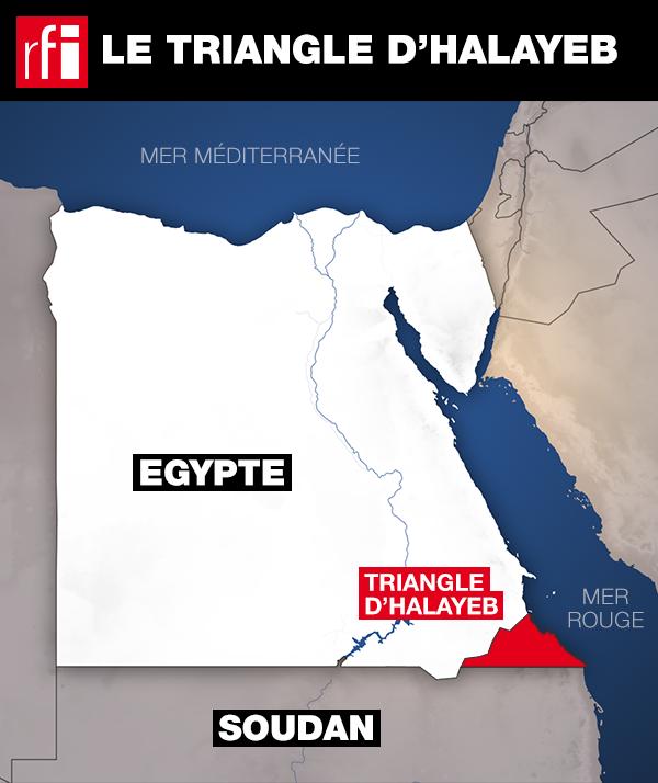 Carte régionale: le triangle de Halayeb est à une zone carrefour dans la mer Rouge.