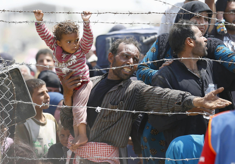 Wasu 'yan Syria dake gudun hijira a Turkiya.