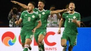 Youcef Belaïli (n°8) a marqué pour l'Algérie face au Sénégal, le 27 juin 2019.