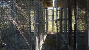 Camp X Ray, le premier camp de détention utilisé à Guantanamo pour les prisonniers capturés par les Etats-Unis.