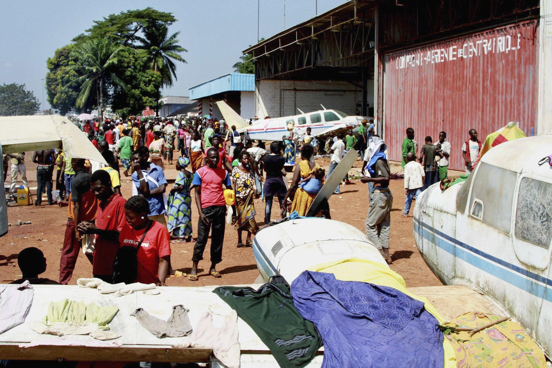 流離失所的中非民眾 2013年12月7日