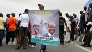 Meeting du parti APC de l'ancien dirigeant du Nigeria, Muhammadu Buhari à Lagos.