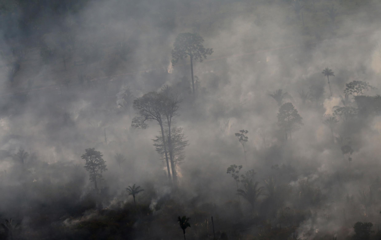 Fogos na região amazónica de Porto Velho, no Brasil, no 29 de Agosto de 2019.