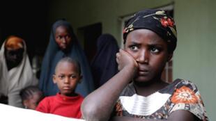 Wasu mata sun fake a Ofishin 'Yan sanda a Maiduguri Jahar Borno saboda barazanar hare haren bama bamai