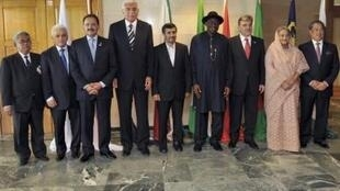 Heads of state and ministers from the eight developing Islamic economies, D8 pose for group photographs in Abuja