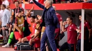 歐洲杯資格賽 法國輸給土耳其 法足教頭德尚Didier Deschamps 2019年6月8日科尼亞