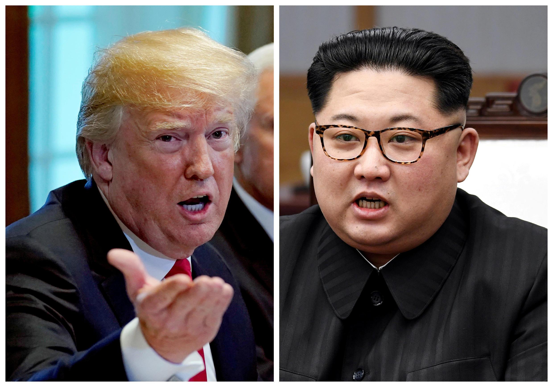 លោកប្រធានាធិបតីអាមេរិក Donald Trump និងមេដឹកនាំកូរ៉េខាងជើង Kim Jong Un