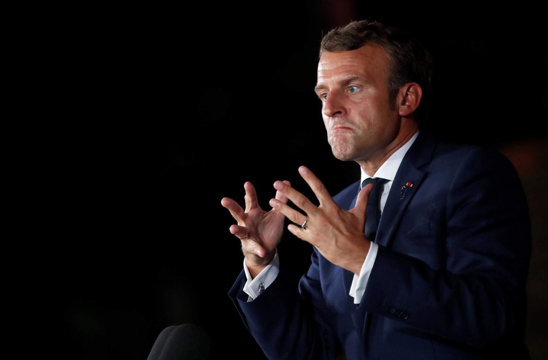 Ảnh minh họa: Tổng thống Pháp Emmanuel Macron trong một buổi họp báo tại Beyrouth, Liban ngày 01/09/2020.