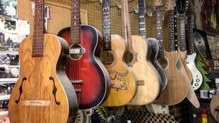 Carmine Street Guitars shop in New York City